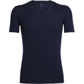 Icebreaker Anatomica SS V Shirt Herre Midnight Navy